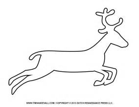 Free reindeer clipart template amp printable coloring pages for kids