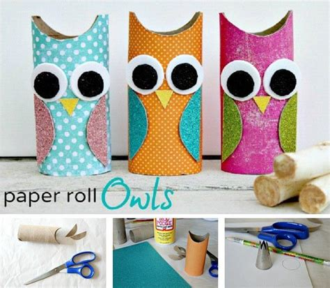 diy paper roll owls fabdiy