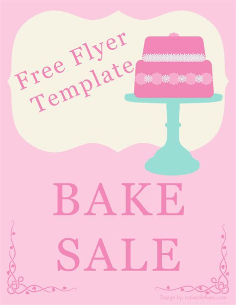 free bake sale flyer templates blank flyer template new calendar template site