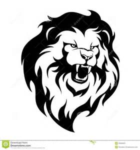 roaring lion clipart black and white clipartsgram com
