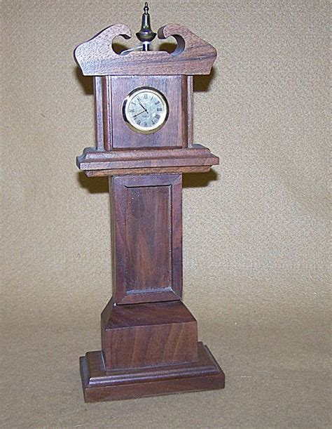 Handmade Grandfather Clock - handmade mini grandfather walnut clock mantel