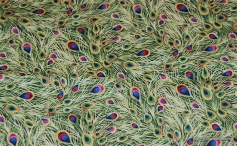 peacock peaceful plumes peacock feather quilt fabric