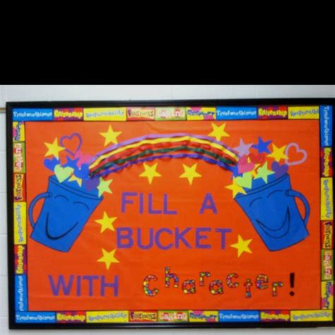 character education themes elementary bucket filler and character education bulletin board