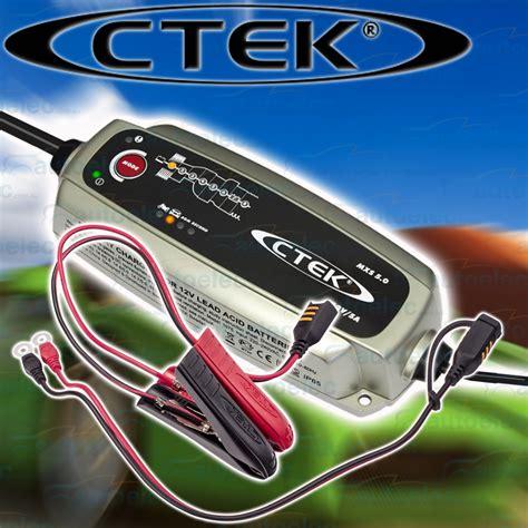 ctek boat battery charger ctek mxs 5 0 12v 5 smart battery charger 4wd car