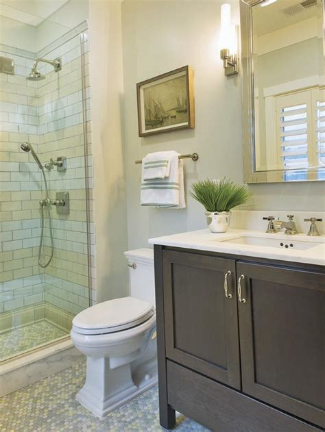 contemporary neutral tiled bathroom hgtv