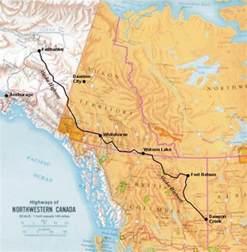 alaska canada highway map alaska hwy introduction