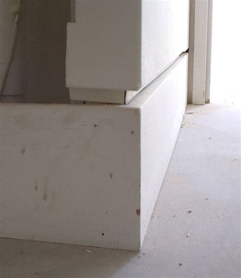 bead drywall mdf baseboard detail shadow bead and drywall detail