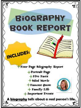 how to write a biography book report book reports biography books and biography on