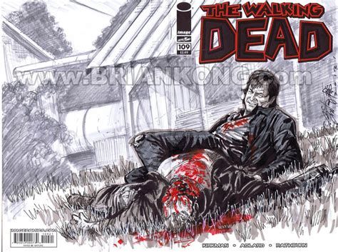 Mc O1 Cover Consina 60l 1 the walking dead 109 daryl walker merle sketch commission in brian kong s sketch covers