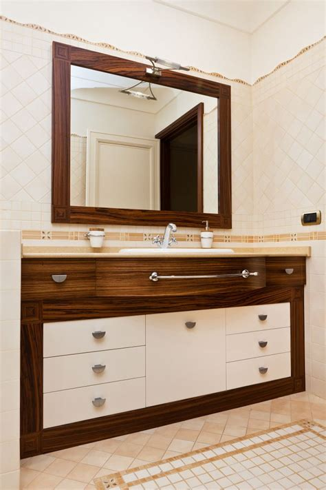 mobile su misura mobile su misura per bagno con cassettoni in legno