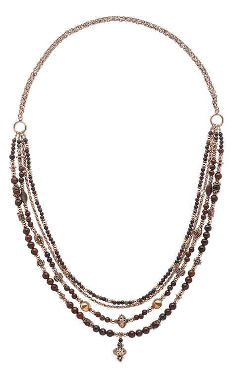 bead and chain necklace designs jewelry design multi strand necklace with brecciated