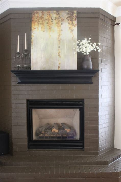 25 best ideas about painted brick fireplaces on brick fireplace makeover brick