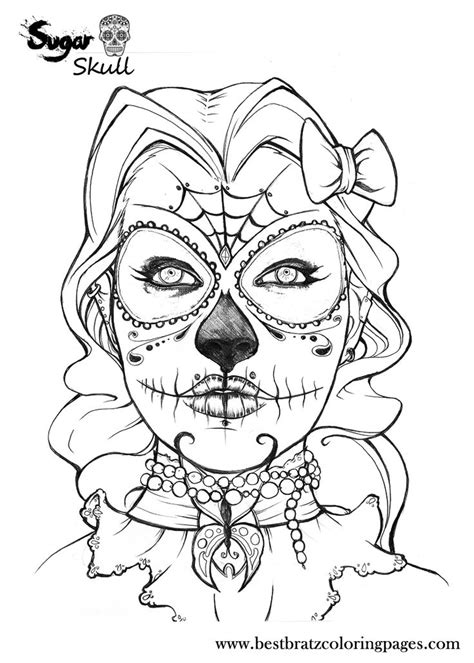 dog sugar skull coloring coloring pages