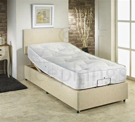 ft single adjustable electric bed choice  mattress