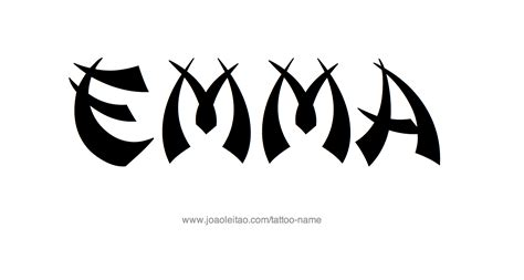 emma tattoo name designs