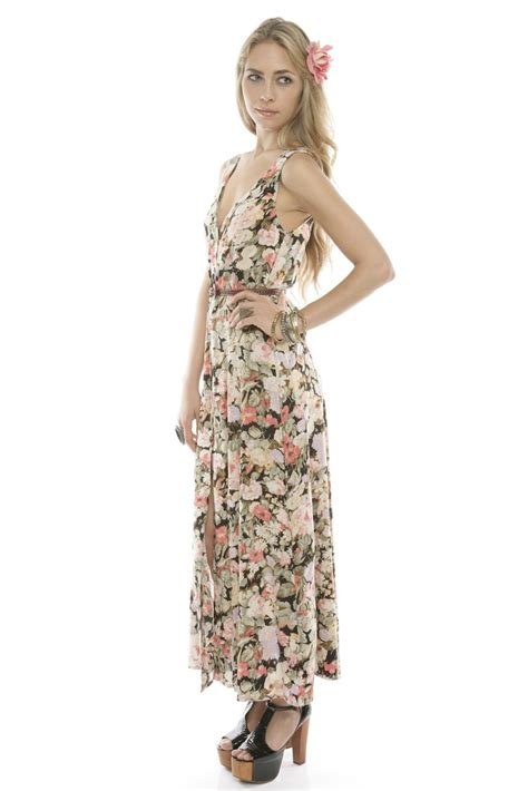 Bj 0729 Black Button Slim Dress minkpink floral button up maxi dress from franklin by house of stella shoptiques