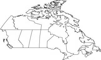 blank political map of us and canada