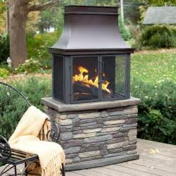 Patio Wood Burning Fireplace by Bond Wood Burning Outdoor Fireplace At Hayneedle