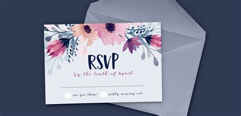 design id card in illustrator design a watercolor floral rsvp card in adobe illustrator
