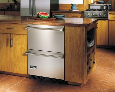 24 Inch Undercounter Refrigerator Drawers by Viking Vrdi5240dss 24 Inch Undercounter Drawer