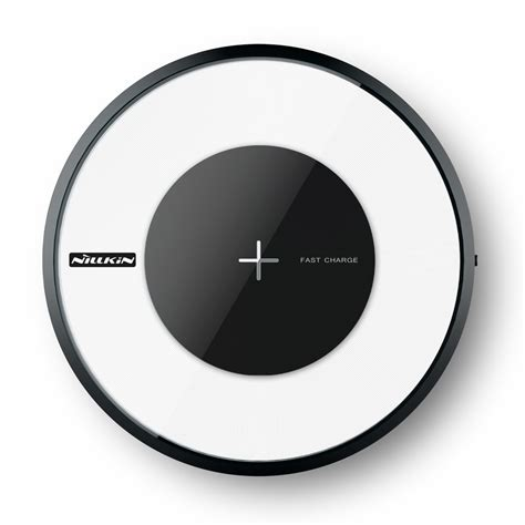 Nillkin Magic Disc 4 Fast Charger Qi Wireless Charging Pad Led nillkin magic disk 4 wireless charger qi charger pad fast charge black hurtel pl gsm wholesale