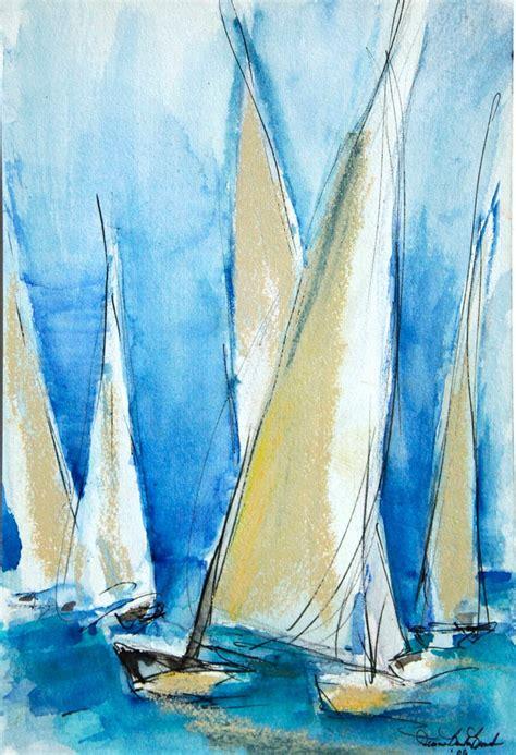 sailing boat watercolour watercolor sailboat paintings
