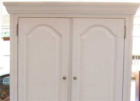 uhuru furniture collectibles white wood tv armoire sold