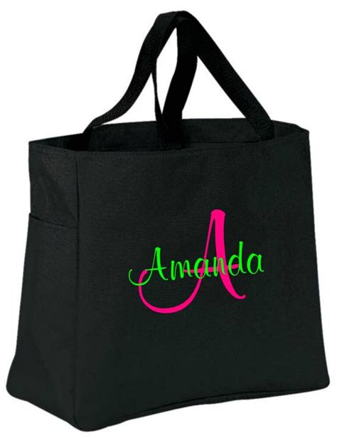 personalized tote bag monogram bride bridesmaid gift ebay