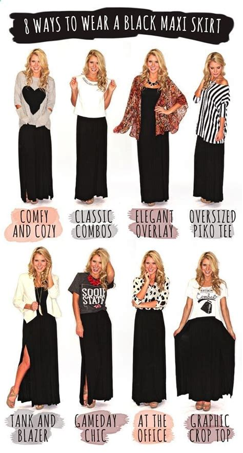 20 style tips on how to wear a maxi skirt for any season