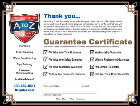 Post Mba Certificate Programs by A To Z Dependable Services Home About Plumbing Drain