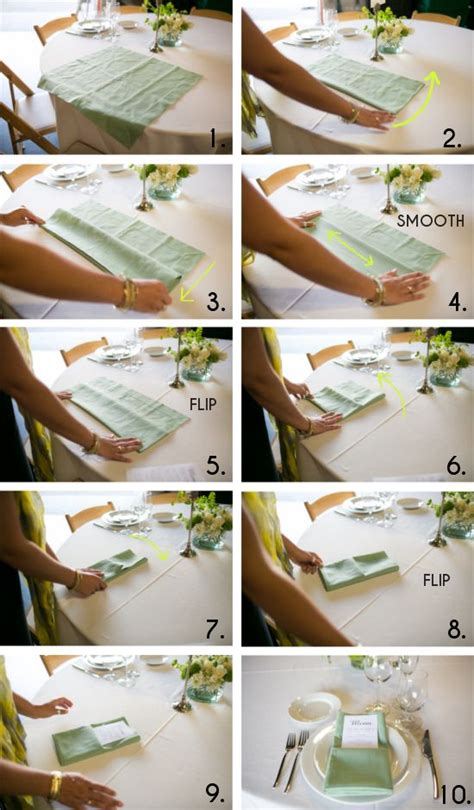 How To Fold Paper Napkins For A Wedding - best 25 wedding napkin folding ideas on the