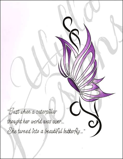 simple tribal butterfly tattoo design by ulylla on deviantart
