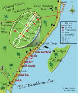 Riviera Maya Mexico Map by Akumal Mexico Map