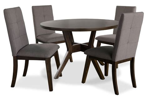 chelsea 5 dining table package with brown