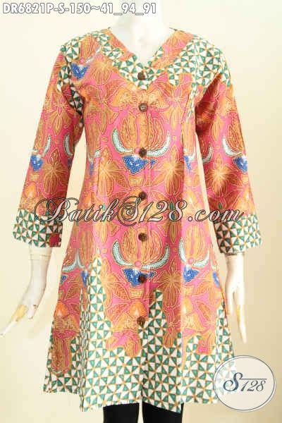 Baju Wanita Dress V dress batik kerah v baju batik wanita simple model