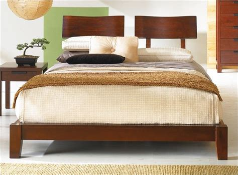 japanese inspired wood platform zen edo bed headboard