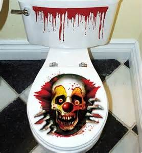 Wall Stickers Outlet supernatural evil clown toilet lid decal boing boing