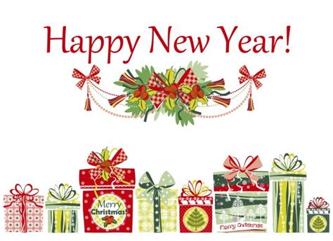happy new year card with presents vector free download