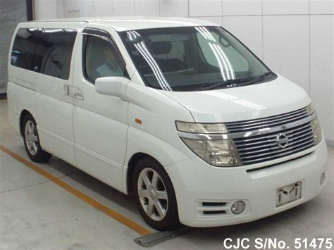 nissan japanese 2004 nissan elgrand white pearl for sale stock no 51475