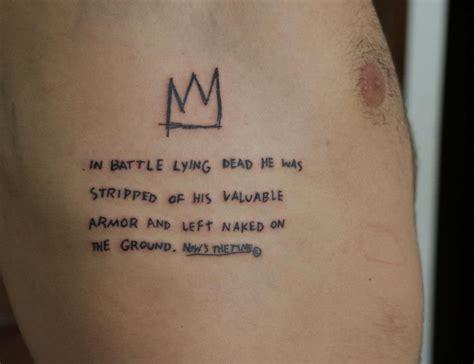 basquiat tattoo vitor novato jean michel basquiat vitor novato