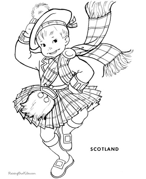 scotland outline coloring home
