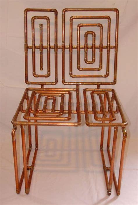 copper pipe furniture sculptural copper tubing furniture and art by tj volonis