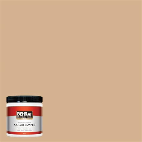 behr premium plus 8 oz home decorators collection creme de caramel flat interior exterior paint
