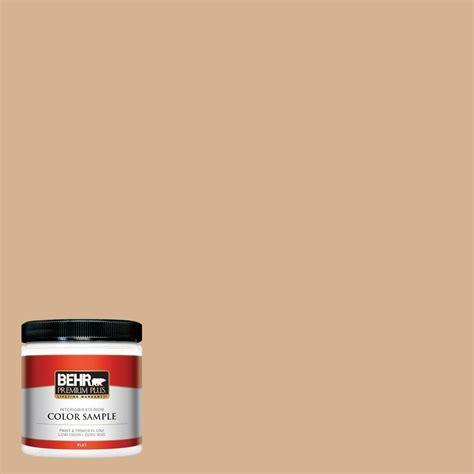 behr premium plus 8 oz home decorators collection creme de caramel flat interior exterior paint