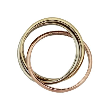 tri color gold ring 14k tri color gold rolling ring style wedding band boca raton