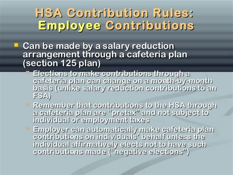 section 125 plan limits all about hsa s