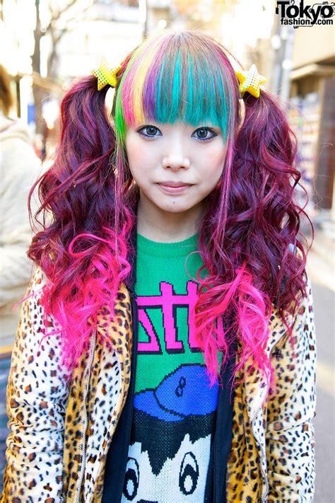 hair by tokyo bright rainbow colored harajuku decora girls maimai marina