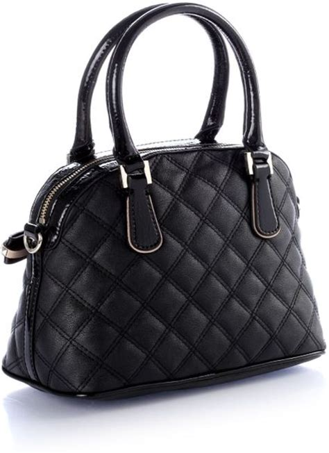 guess leidi small dome satchel bag  black lyst