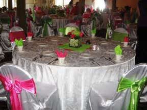 pink and lime green decorations beautiful pink
