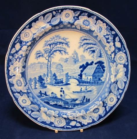 willow pattern close up antique blue willow english dinner plate the steffen